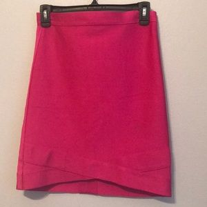 Bebe Bandage Skirt- Very Berry